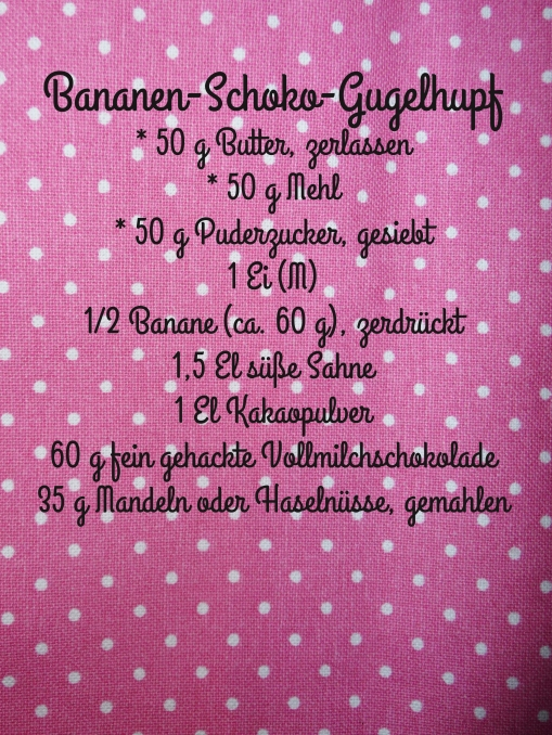 Rezept Bananen-Schoko-Gugelhupf