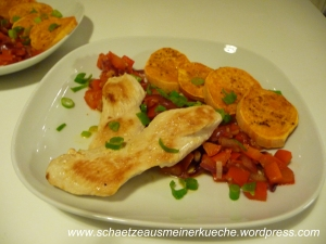 Serviervorschlag Süßkartoffelmedaillons