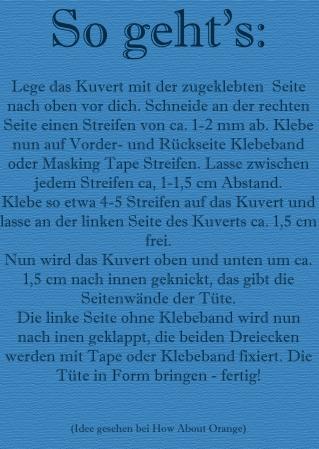 Anleitung Tüten