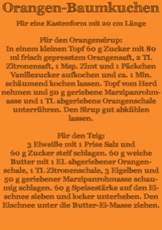 Rezept Orangen-Baumkuchen Teil 1