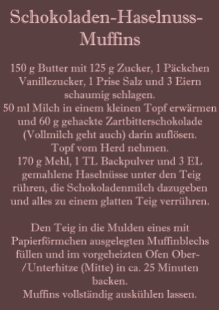 Rezept Schokoladen-Haselnuss-Muffins