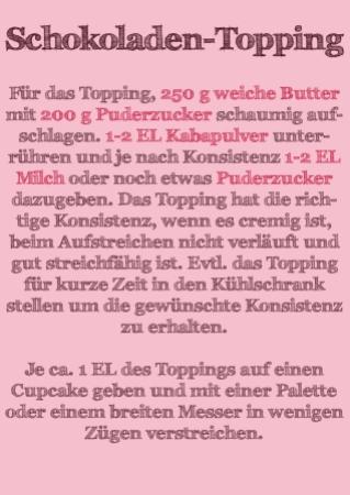 Schokoladen-Topping für Cappuccino-Cupcakes