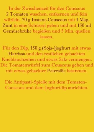 Rezept Teil 2 Tomaten-Couscous