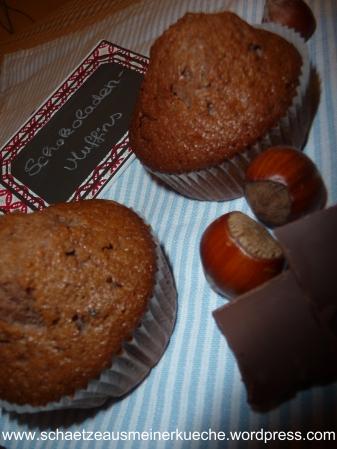 Schoko-Haselnuss-Muffins