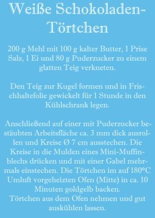 Rezept Weiße Schokoladen-Törtchen