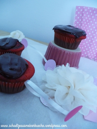 Red marble Cupcakes
