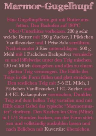 Rezept Marmor-Gugelhupf
