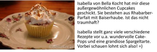 Rhabarber-Parfait-Cupcakes Bella Kocht