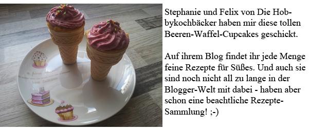 Die Hobbykochbäcker Beeren-Waffel-Cupcakes