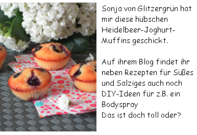 Glitzergrün Heidelbeer-Joghurt-Muffins