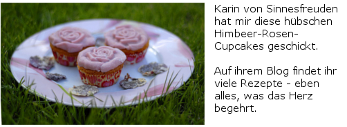Himbeer-Rosen-Cupcakes