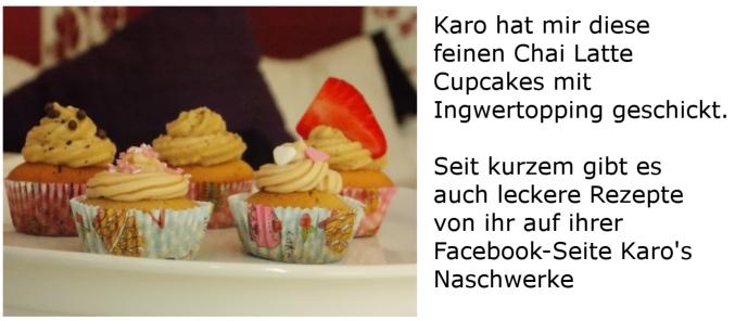 Chai Latte Cupcakes mit Ingwertopping