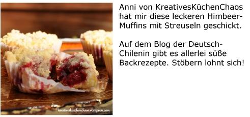 Kreatives Küchen Chaos Himbeermuffins mit Streuseln