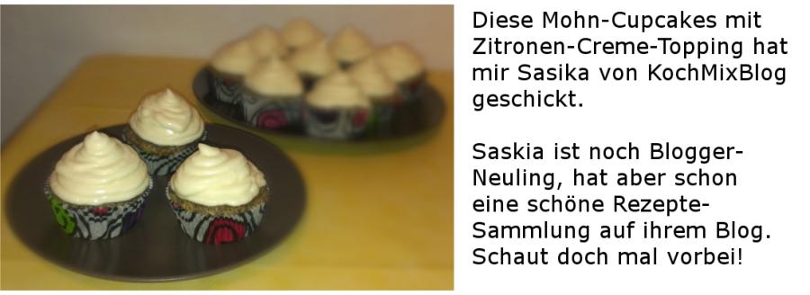 Mohn-Cupcakes mit Zitronen-Creme-Topping