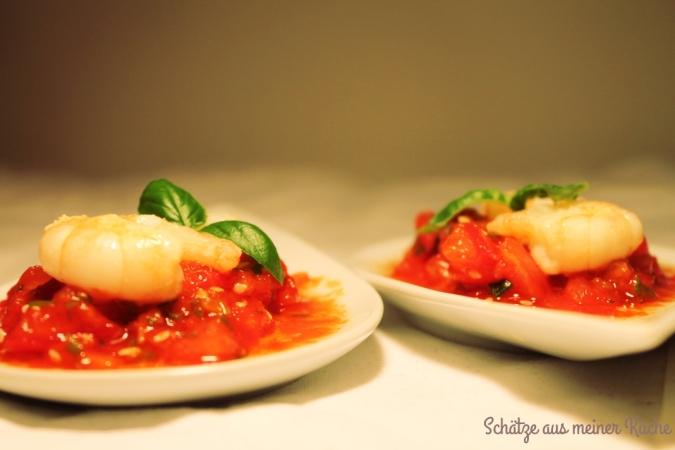 scampi auf asiatischer tomaten salsa sch tze aus meiner k che. Black Bedroom Furniture Sets. Home Design Ideas