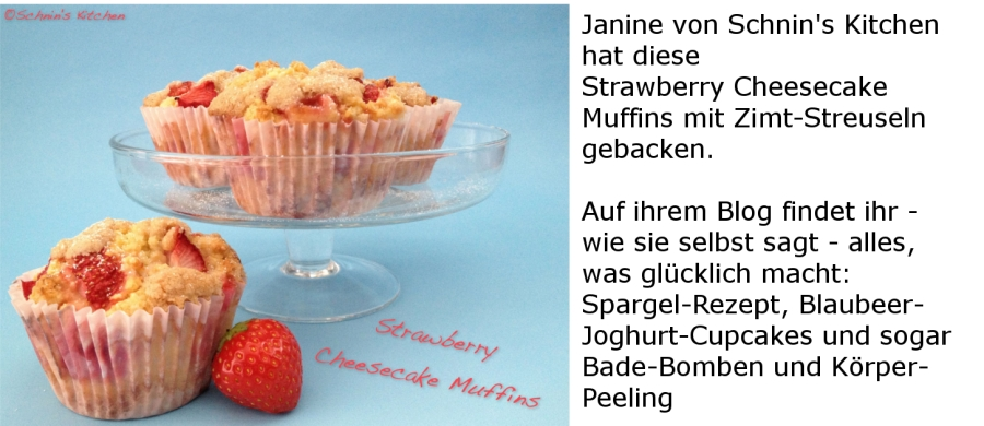 Strawberry Cheese Cupcakes mit Zimt Streuseln