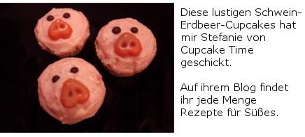 Schwein-Erdbeer-Cupcakes Cupcake Time