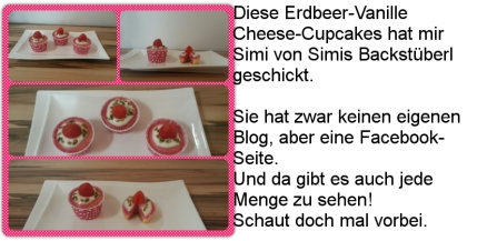 Erdbeer-Vanille-Cheese-Cupcakes