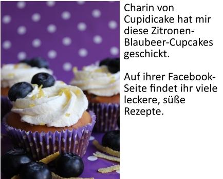 Zitronen-Blaubeer-Cupcakes