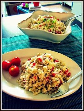 Roher Blumenkohl-Salat