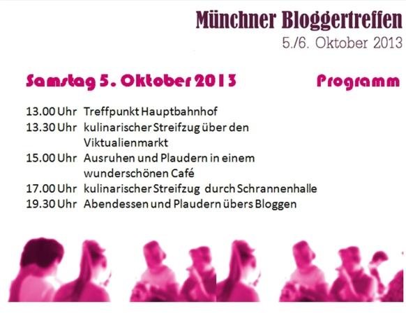 Programm Bloggertreffen 5.Oktober München