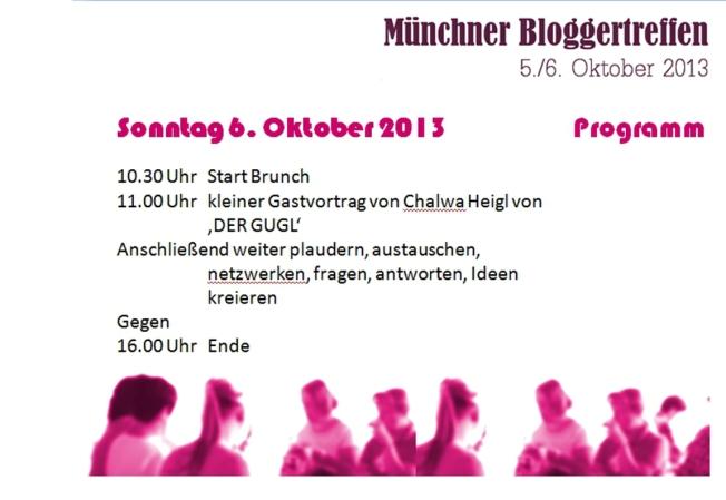 Programm Bloggertreffen 6.Oktober München