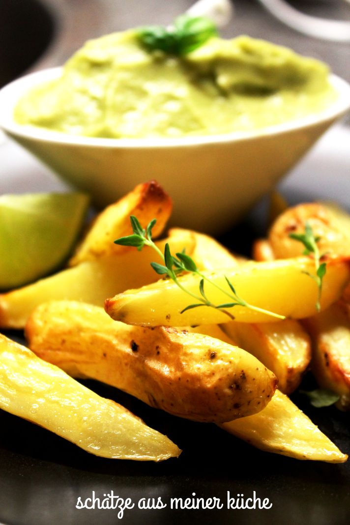 Potatoe-Wedges mit Avocadocreme