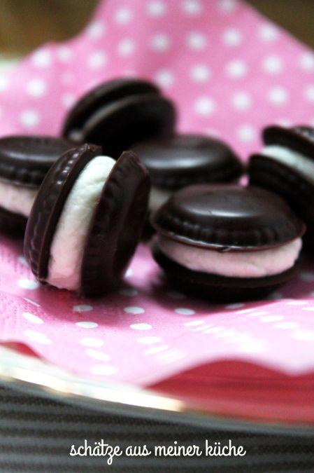 Macaron-Pralinen Schokolade