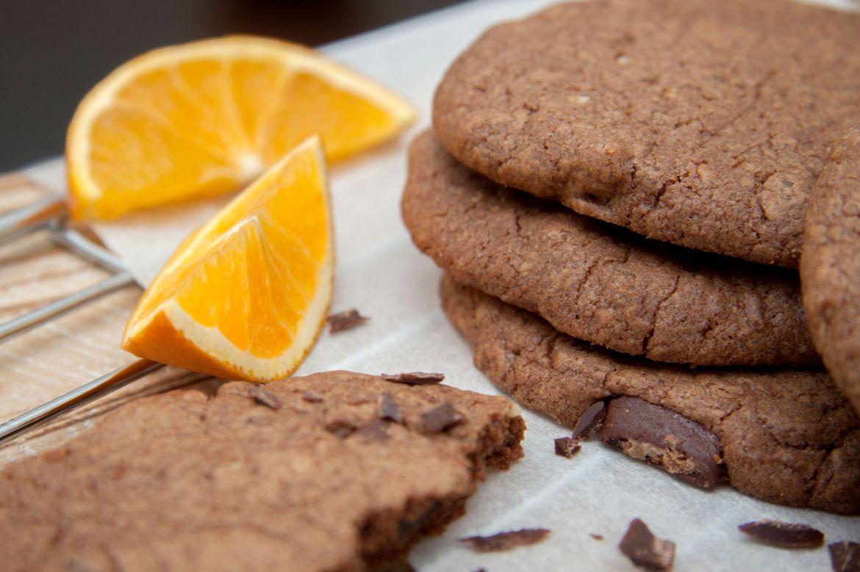 Nougat-Orangen-Cookies
