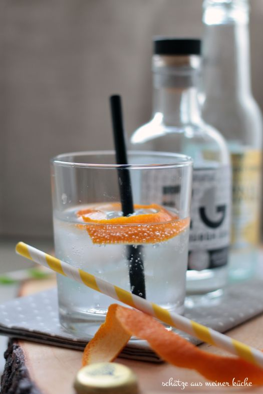 Gin Tonic Orange Zitrone