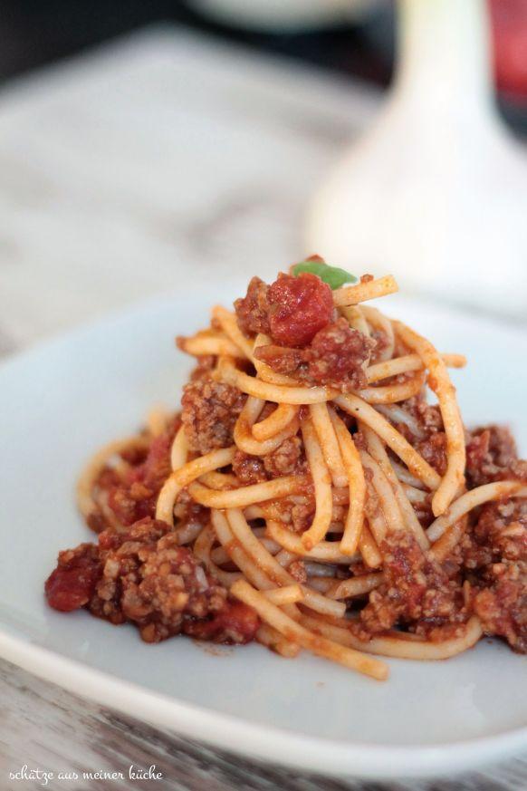 Ragù alla Bolognese Hackfleischsauce Spaghetti Bolognese